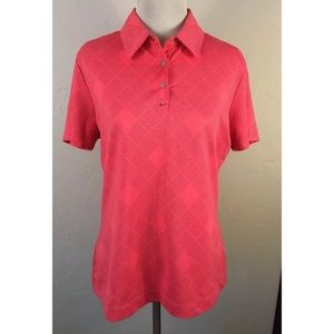 Nike Golf Pink Polo Shirt in size Medium